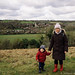 Country Walk. Elham/Acrise. Kent (Adam 5y, Artur 2y old)