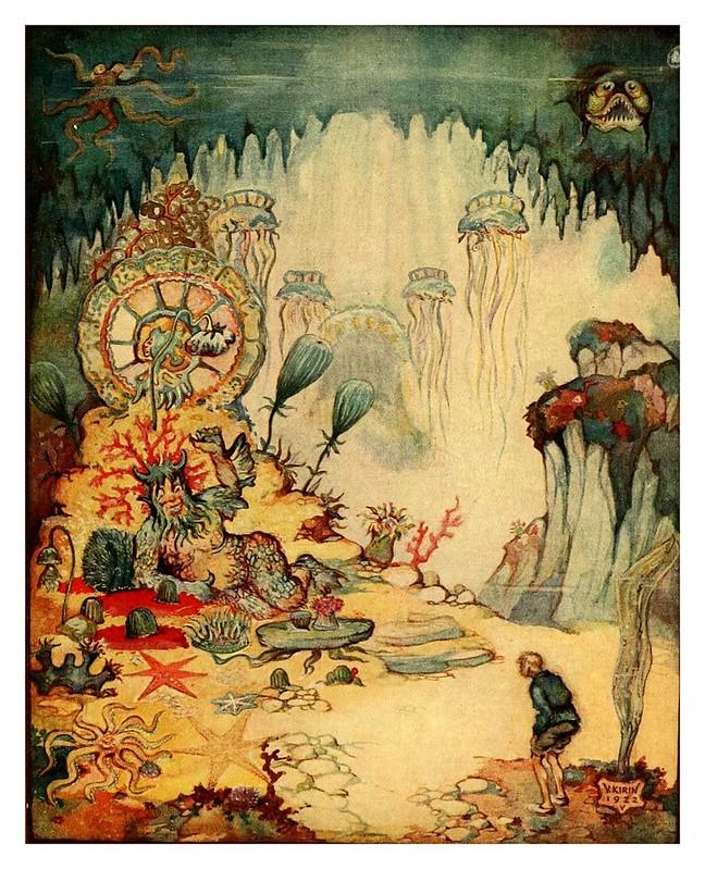 003-El pescador y su esposa-Croatian tales of long ago-1922- Vladimir Kirin