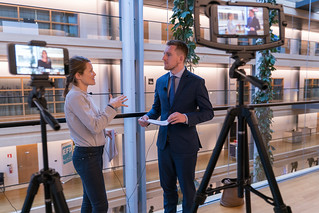 Social media live broadcast about the 25th year anniversary of European Single Market