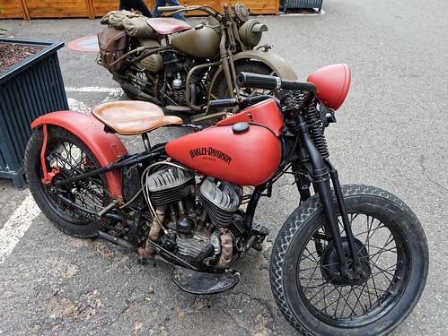 Harley-Davidson vintage à Chartres