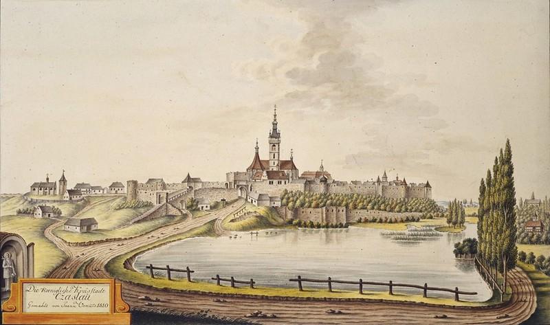 Joann Venuto (1746-1833) - Die Koenigliche Kreisstadt Czaslau gemahlt von Joann Venuto 1810