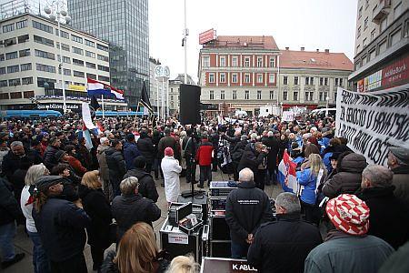 Prosvjedni skup zbog dolaska Aleksandra Vučića u Hrvatsku