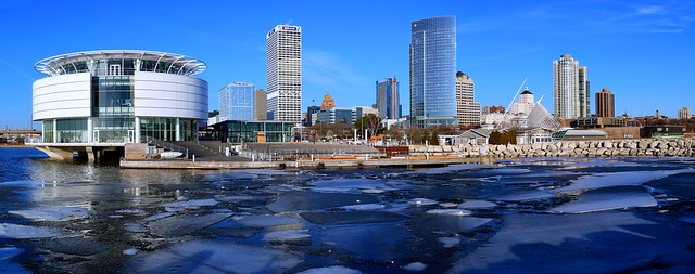 Winter Morning in Milwaukee (Panorama)