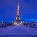 Tour eiffel blue hour by Benoit photography