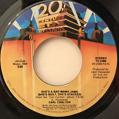 CARL CARLTON:SHE'S A BAD MAMA JAMA(LABEL SIDE-A)