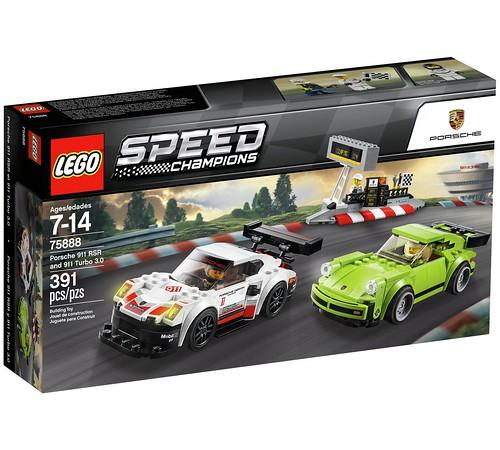 LEGO Speed Champions Porsche 911 RSR and 911 Turbo 3.0 (75888)