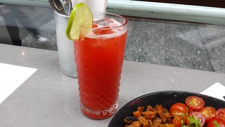 Strawberry Elderflower Lime Agua Fresca at Comuna Cantina