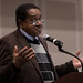 2018-02-01 07:17 - Black Panther Co-founder Bobby Seale at the Riggs Alumni Center on February 1st 2018. Seale came to talk about civil rights and activism. (Richard Moglen/The Diamondback)
