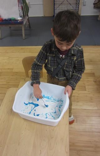 blue marble paint