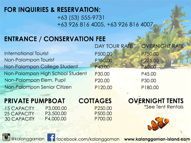 Kalanggaman Inquiries and Rates