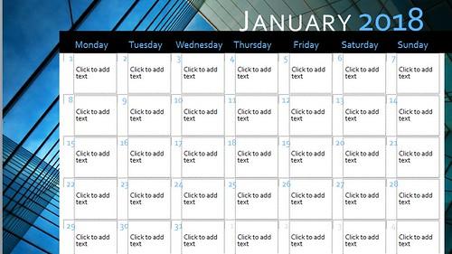 powerpoint calendar