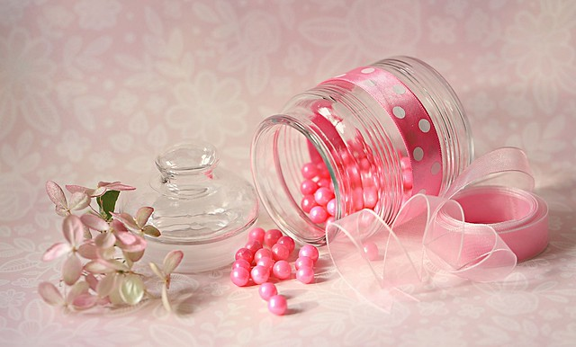Pink candy beads