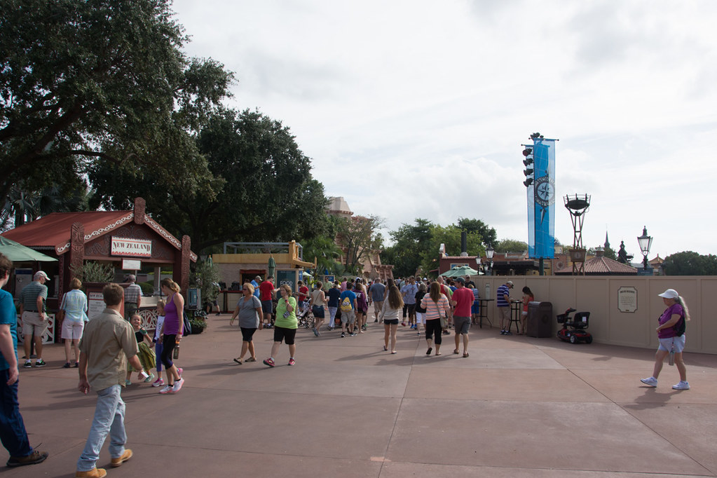 Food booths at EPCOT Food and Wine Festival