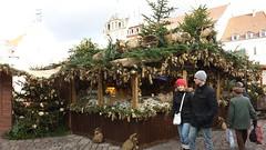Hütte am Weinachtsmarkt