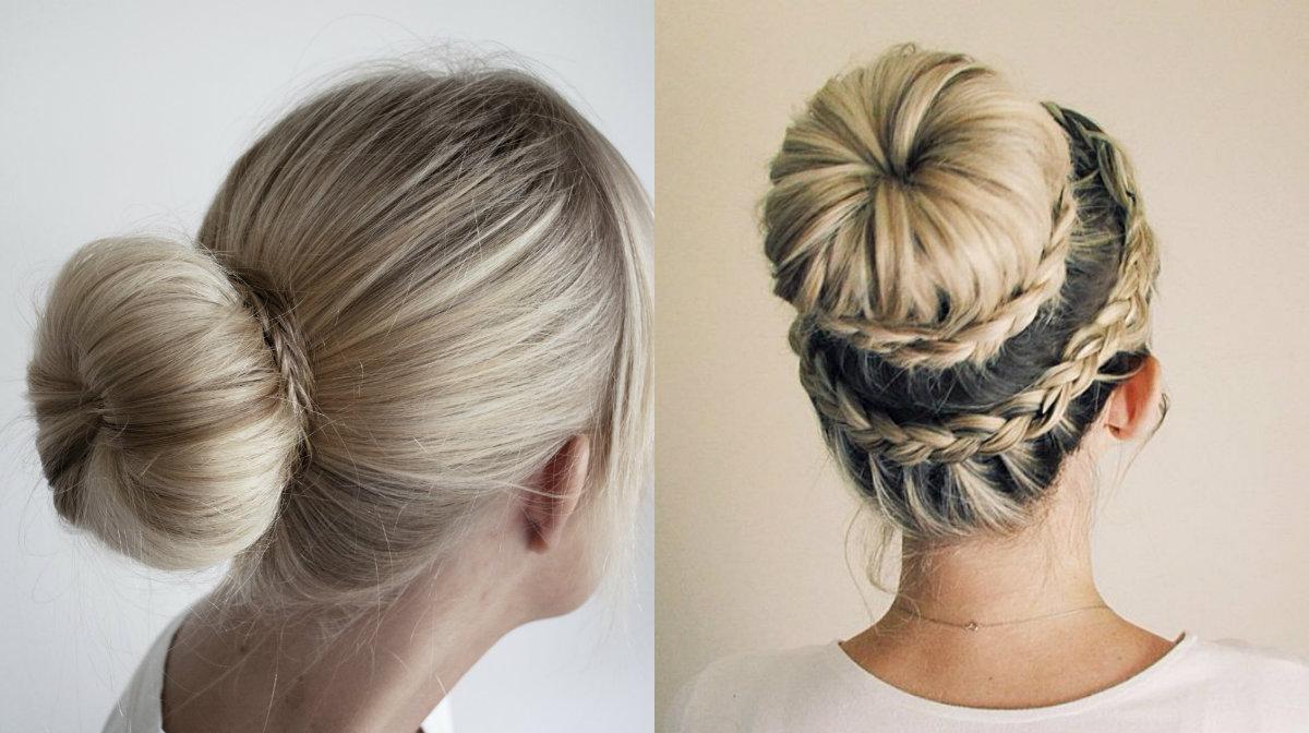 Easy Donut Bun Hairstyles 2018 For Teens 5