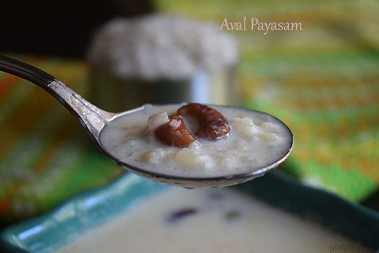 Aval Payasam Recipe by GoSpicy.net