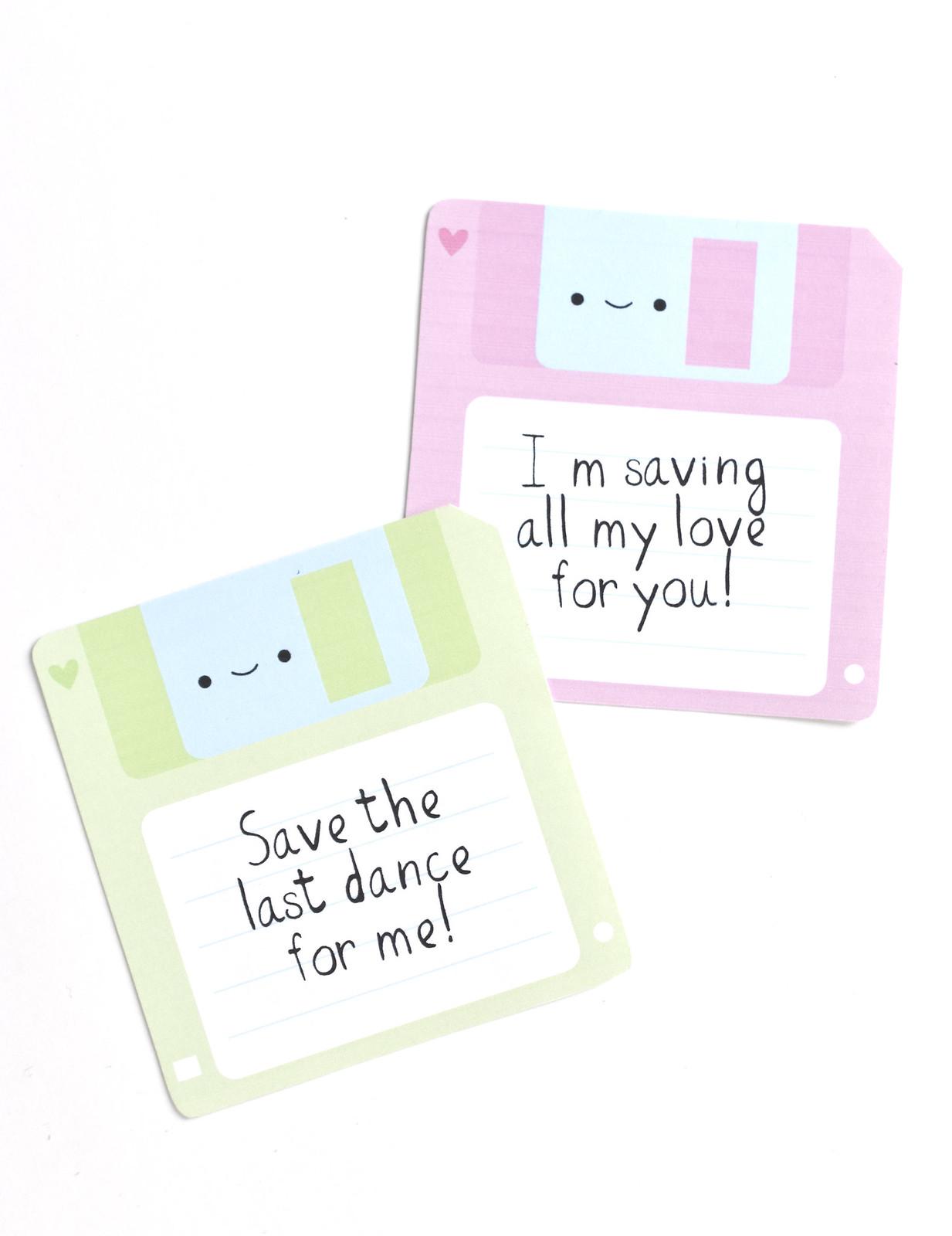 Floppy Disk Valentines