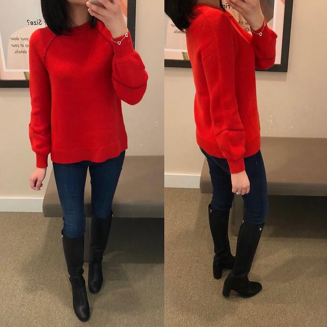 LOFT Whipstitched Sweater, size XS regular