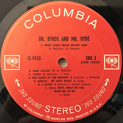 THE BYRDS:DR. BYRDS & MR. HYDE(LABEL SIDE-B)