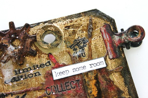 Meihsia Liu Simpl Paper Crafts Mixed Media Tag Room for Heart Simon Says Stamp Tim Holtz 8