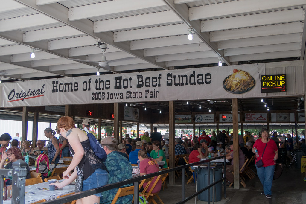 Hot Beef Sundae Sign at Iowa State Fair