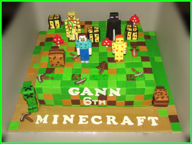Cake Minecraft GANN 35cm