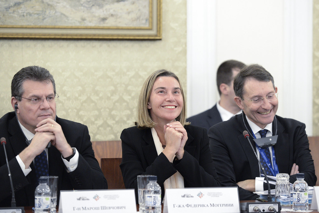 Mogherini at the first meeting between the EC and…
