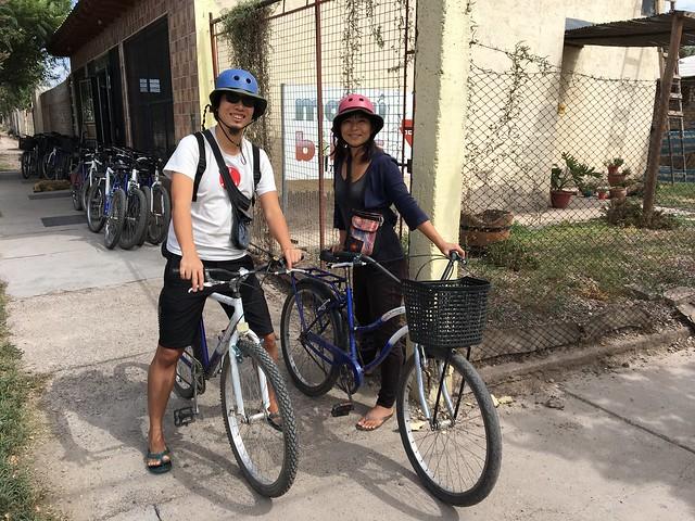 自転車でワイナリーを巡ります!