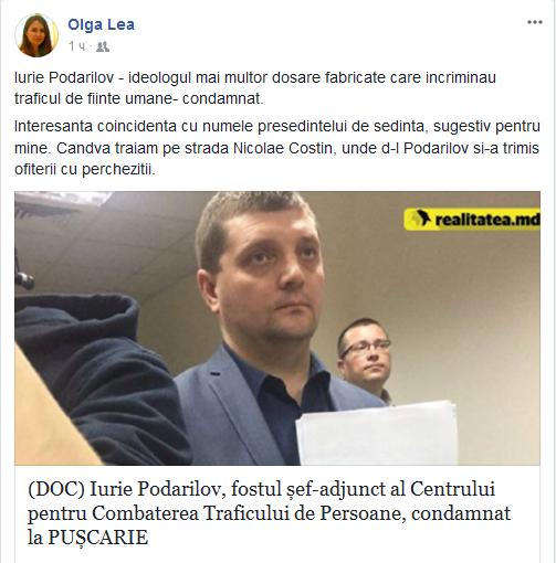 Iurie Podarilov, Fostul Șef-adjunct Al Centrului Pentru Combaterea Traficului De Persoane, Condamnat La Pușcărie