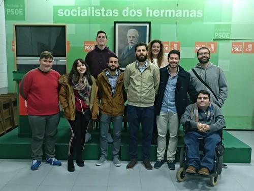 Nueva comisión ejecutiva local de Juventudes Socialistas de Dos Hermanas