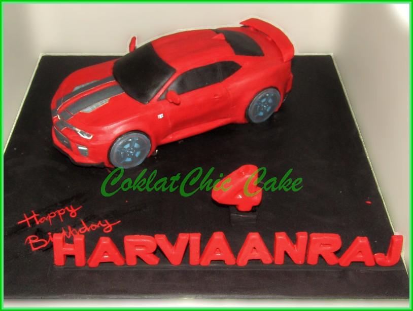 Cake Mobil Chevy Camaro HARVIAANRAJ 22cm