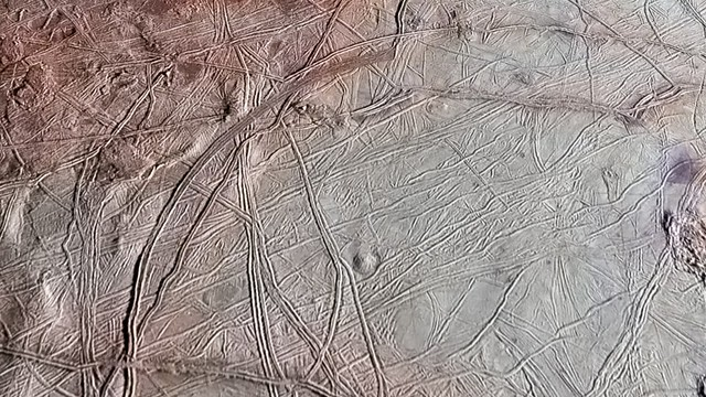 Flyover of Jupiter's Moon Europa
