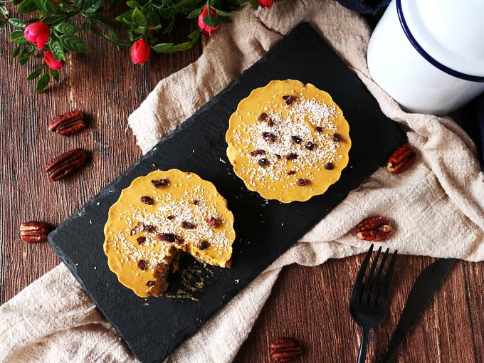 迷你椰香南瓜派 (全素,無麵粉,無堅果) mini-coconut-pumpkin-pie (11)