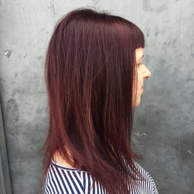50+ Dark Red Hair Ideas for Modern Ladies