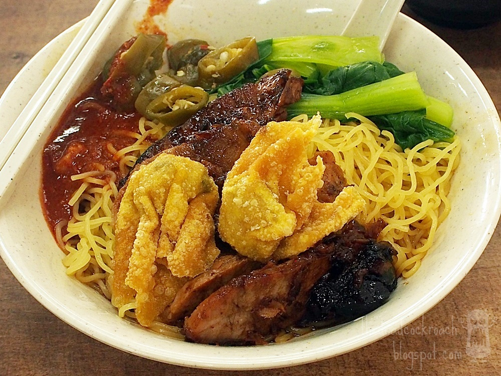 food, food review, golden shoe, golden shoe hawker centre, market street, market street interim hawker centre, review, singapore, tiong bahru wanton mee, 鹏中峇鲁雲吞麵,  鹏,中峇鲁,雲吞麵