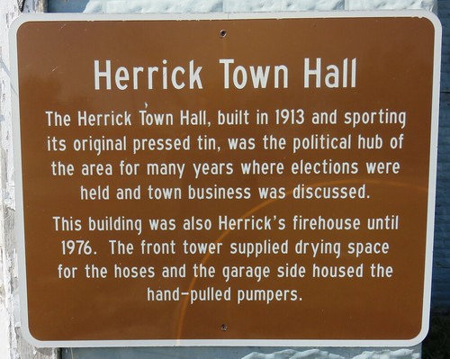 Herrick Town Hall Marker (Herrick, South Dakota)