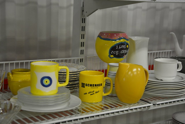 On the Yellow Shelf at the Swedish Thrift Store by iHanna #studioihanna