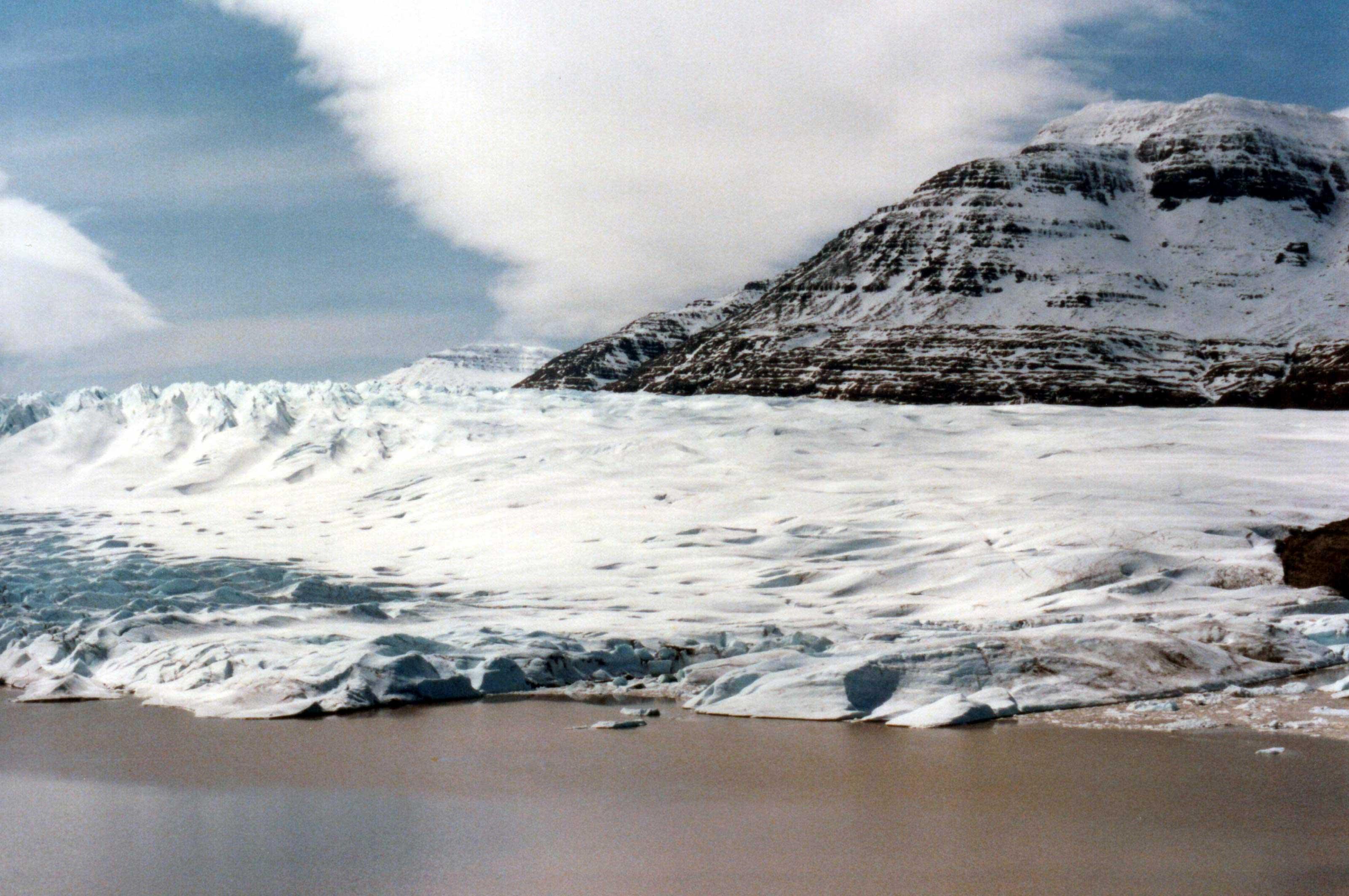 Cook Glacier in the Kerguelen Islands.