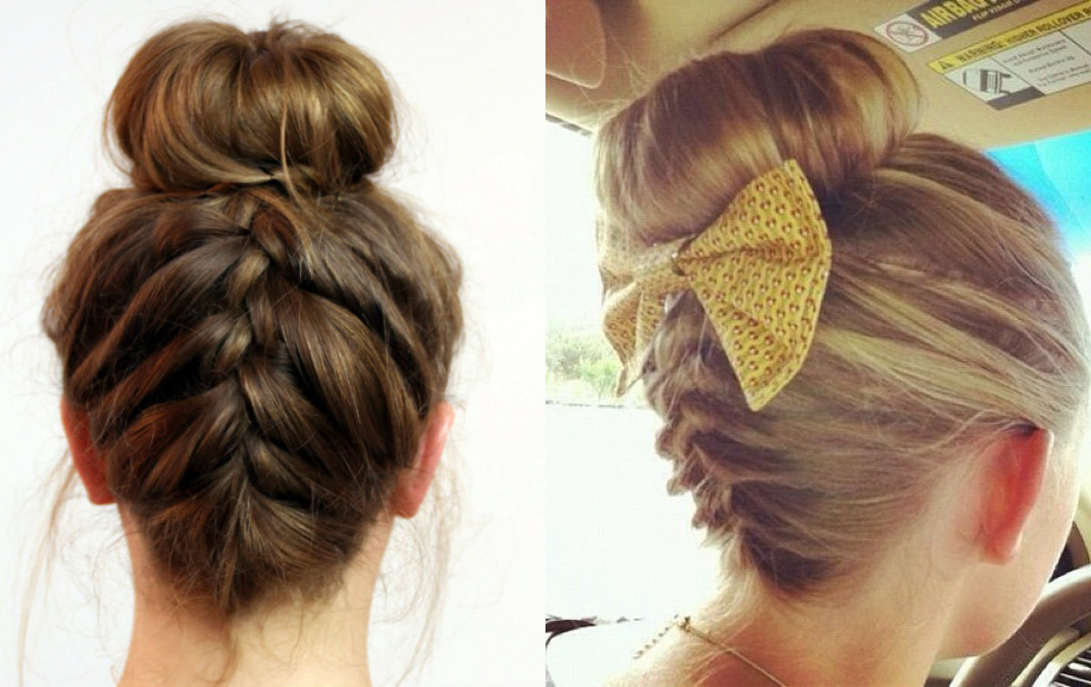 Easy Donut Bun Hairstyles 2018 For Teens