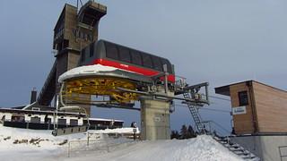 Hexenexpress Lift with Wurmberg ski jump