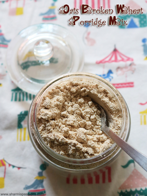 oats broken wheat porridge mix recipe