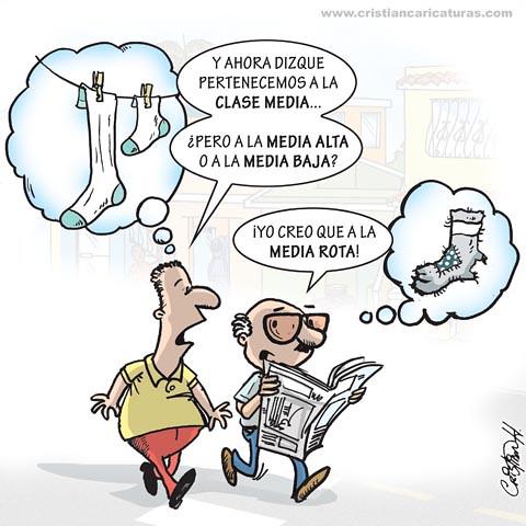 Caricatura clase media
