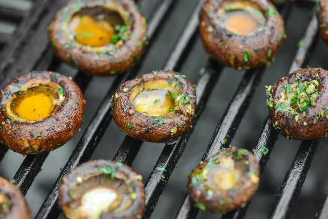 Herb Crusted Grilled Mushrooms