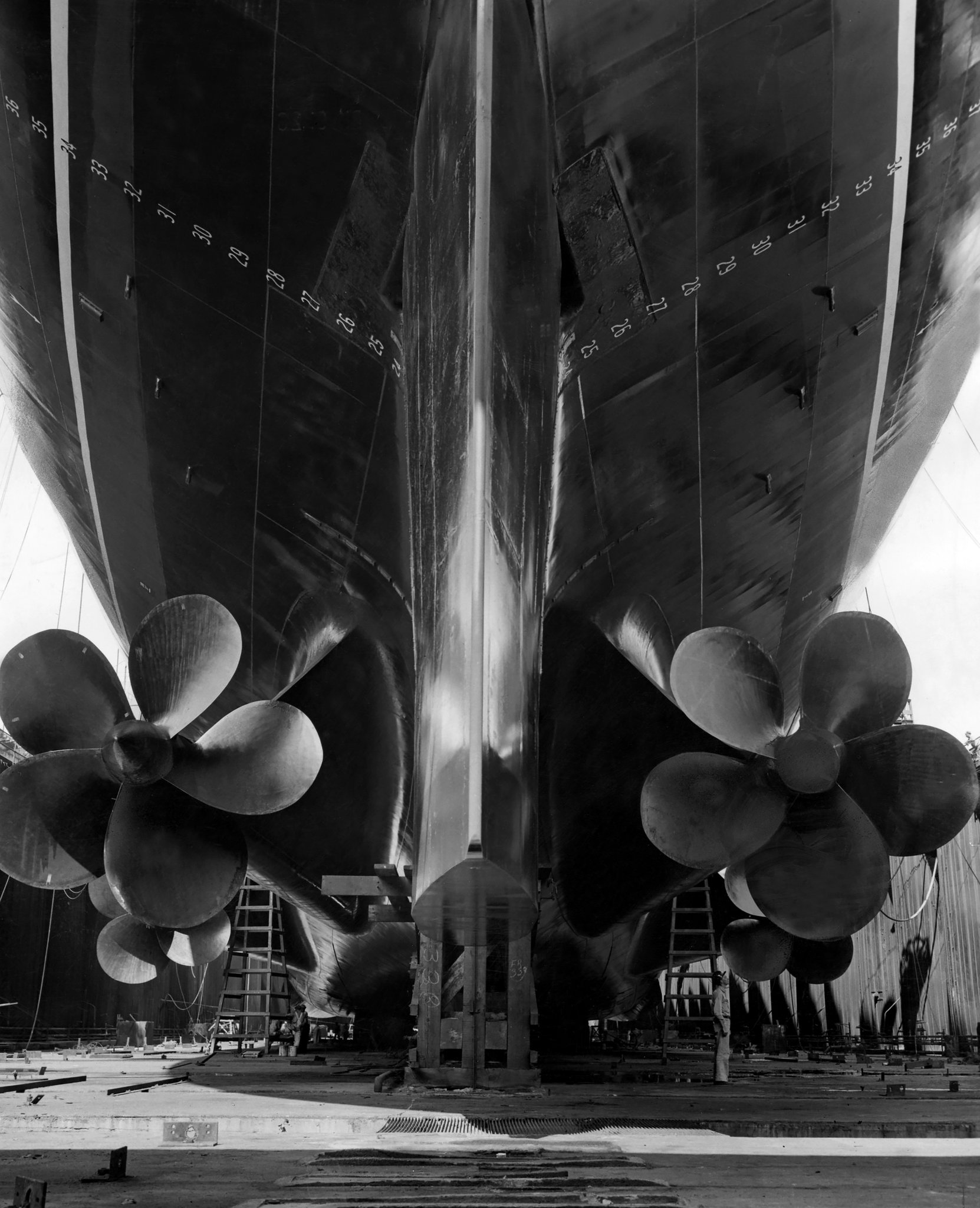 SS United States' powerful (formerly-top secret) powerplant, coupled with her light-weight superstructure contributed to her speed.