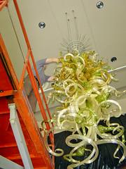 4Weidner Center Chandelier Installation _o