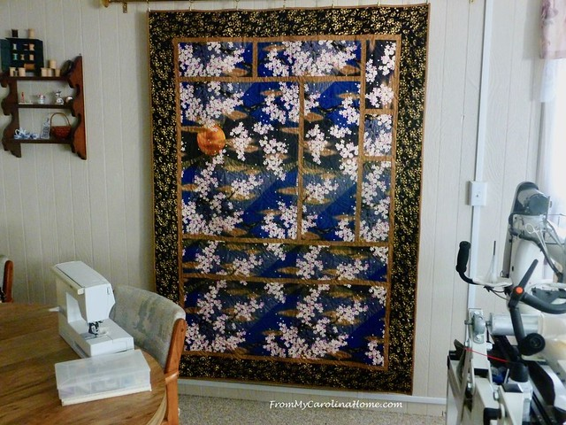 Sakura Tsuki Quilt at From My Carolina Home