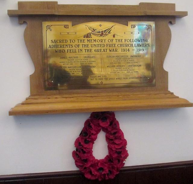 Lawers United Free Church Memorial