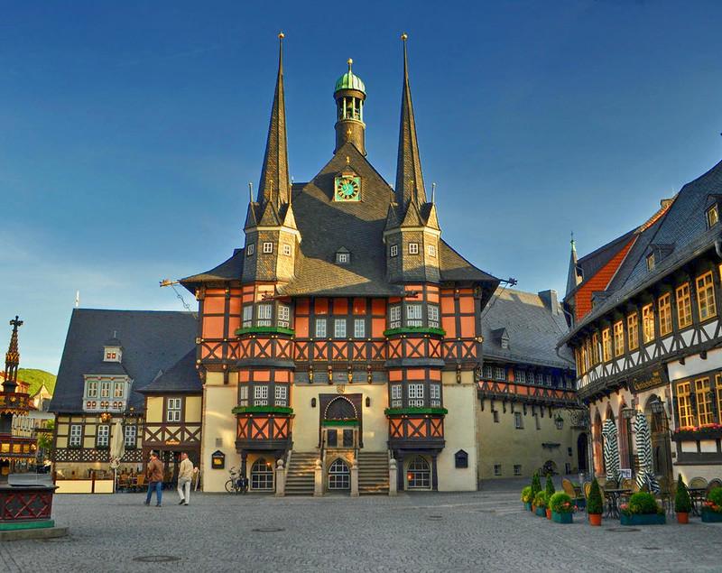 Wernigerode's Gothic Town Hall. Credit Klugschnacker