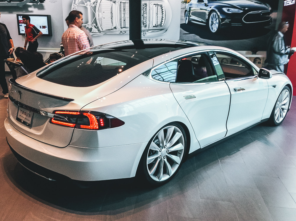 First Time Seeing a Tesla