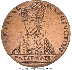 George Washington Pater Patriæ Inaugural Button front